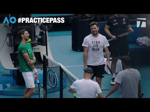 Practice Pass: Novak Djokovic Vs. Stan Wawrinka At The 2020 Australian Open