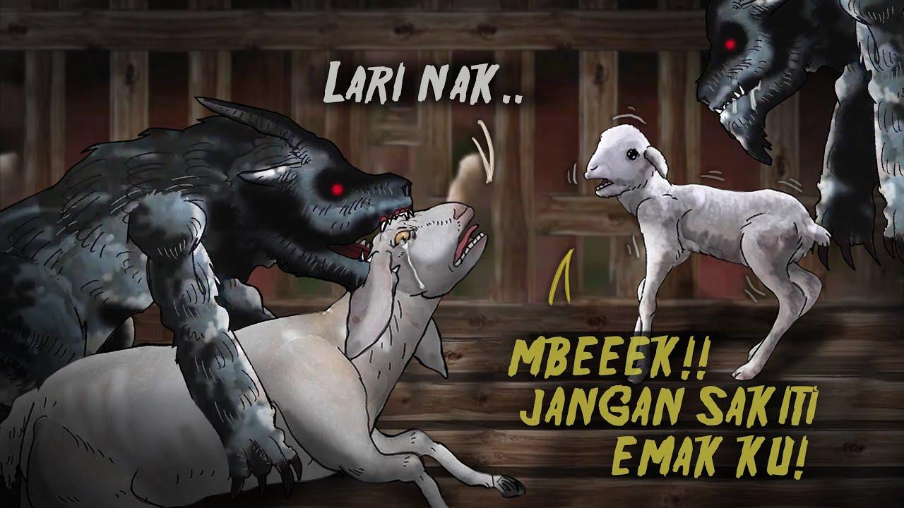 Hantu Kambe Kalimantan, Memburu Ibu Kambing & Anaknya #HORORMISTERI  | Kartun  Hantu, Animasi Horor