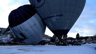 Does Size Matter? :) 140 vs 425 Balloon during Take-Off / Royal Balloon - Cappadocia