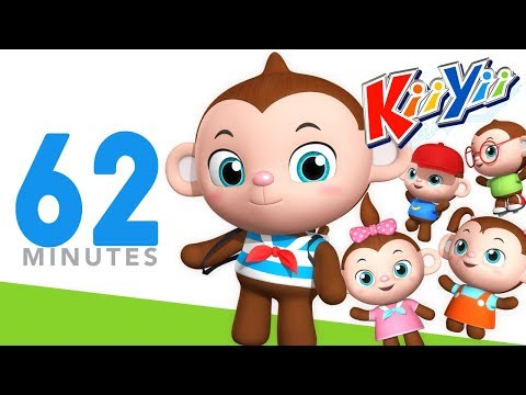 Five Little Monkeys Jumping On The Bed | Plus Lots More Nursery Rhymes | 62 Mins from KiiYii!