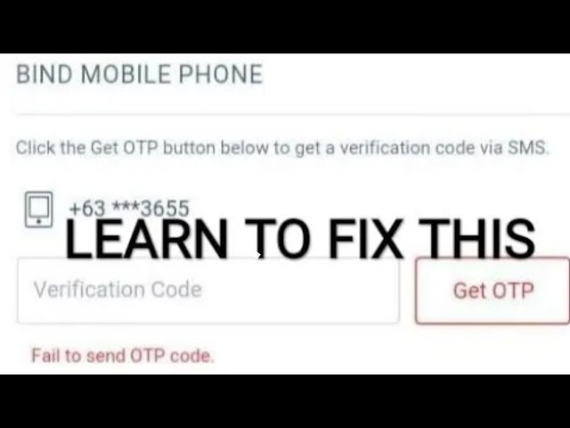 9 58 MB) HOW TO FIX FAILED TO SEND OTP GARENA, Download