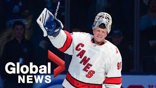 Emergency backup goalie David Ayres talks about becoming a media sensation