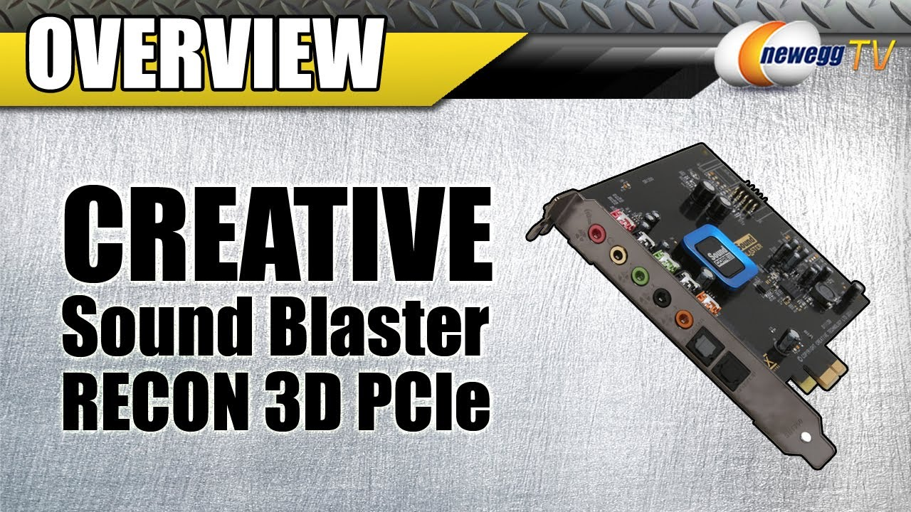 DRIVERS UPDATE: CREATIVE SOUND BLASTER RECON3D PCIE