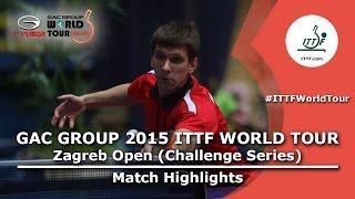 Zagreb Open 2015 Highlights: PAIKOV Mikhail RUS vs JIN Takuya (R 16)