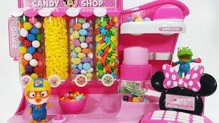 미니 캔디샵 뽀로로 인형놀이 가게놀이 장난감 Minnie Mouse Candy Shop Pororo Toy