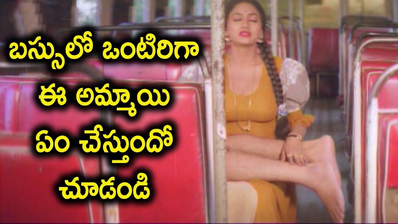 బస్సులో ఒంటిరిగా ఈ అమ్మాయి ఏం చేస్తుందో చూడండి | Sai kumar & Sanghavi intresting LOve Scenes