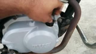 TVS Star City Engine oil change - how to change Engine oil\Transmission oil of bike.