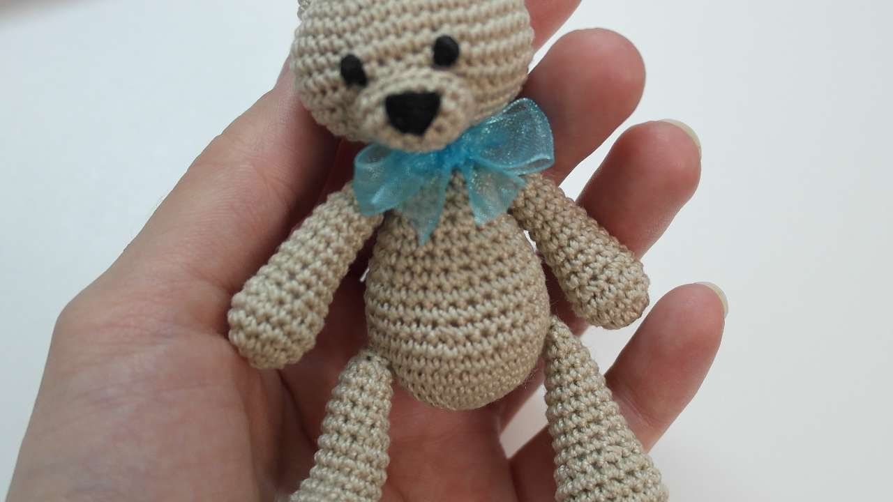 Amigurumi Teddy Bear Free Patterns : How to make a cute small crocheted teddy bear diy crafts tutorial