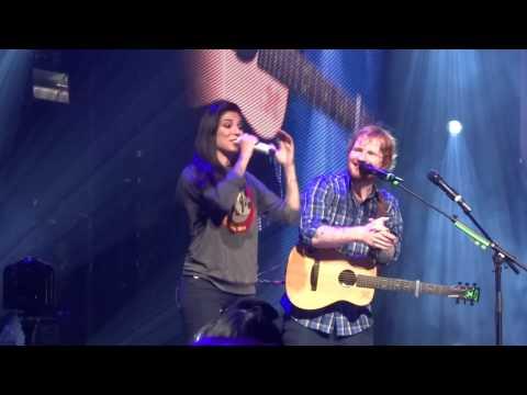 Ed Sheeran & Christina Perri - Be My Forever 9-8-15 X Tour Orlando, FL