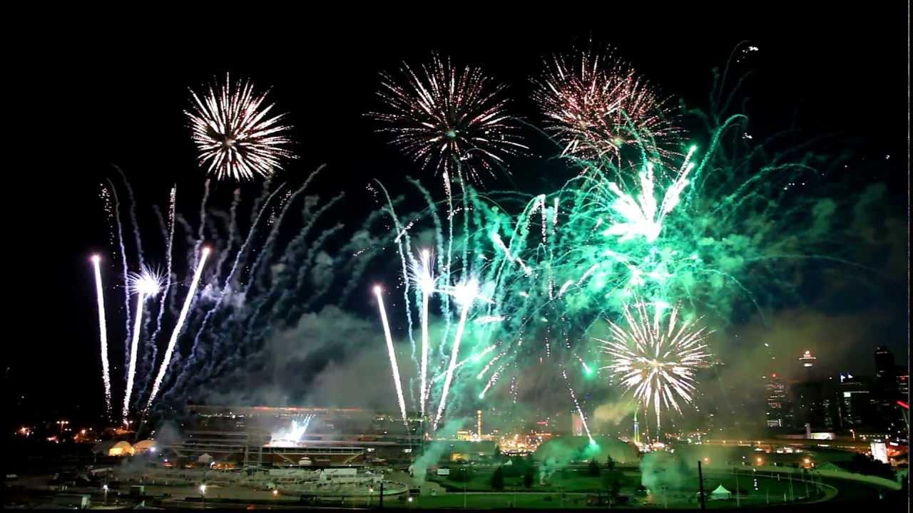 Calgary Stampede Park 2012 Centennial Fireworks Hd Day 3