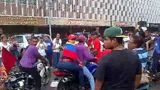 Motorizados Chavistas buscando violencia en la Plaza Bolivar de Ciudad Ojeda
