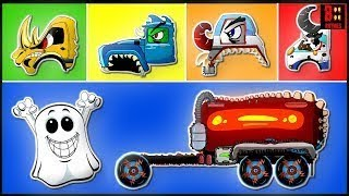 Wrong Head & Wrong Body Scary Monster Vehicle   Haunted House Cars   Educational Video For