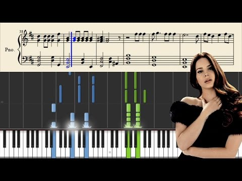 Lana Del Rey - High By The Beach - Piano Tutorial + Sheets