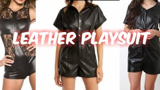 New Amazing Leather Black Playsuits Designs and idea's for womens #leather #playsuits #Streetfashion
