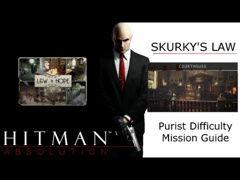 Hitman Absolution Purist Difficulty Guide: Skurky's Law, Courthouse, Get to the Holding Cells