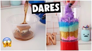 EXTREME SLIME & SQUISHY DARES?! *making Fluffy Whipped Cream Slime*