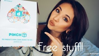 HOW TO GET FREE SAMPLES| PINCHme unboxing| Skin care, Lifestyle, Snacks