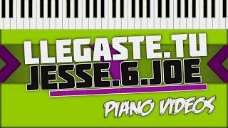 Llegaste tu - Jesse & joe Piano Tutorial - Piano videos ツ