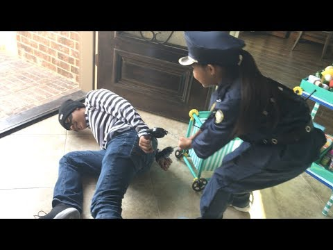 Cop, Robber & First Responder Grocery Market Pretend Play | Toys Academy