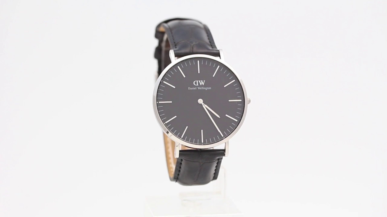 6e4be2d53d85 Daniel Wellington Classic Black Reading Silver 40mm - Watchia.com ...