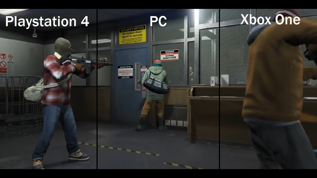 gta 5 graphics amp gameplay comparison pcplaystation 4