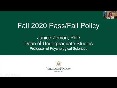 Fall 2020 Pass Fail Options