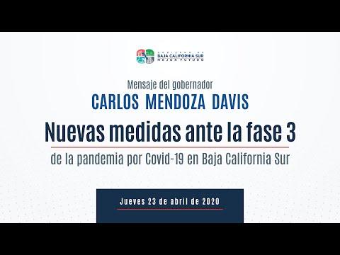 Nuevas medidas ante la fase 3 de la pandemia por Covid-19 en Baja California Sur