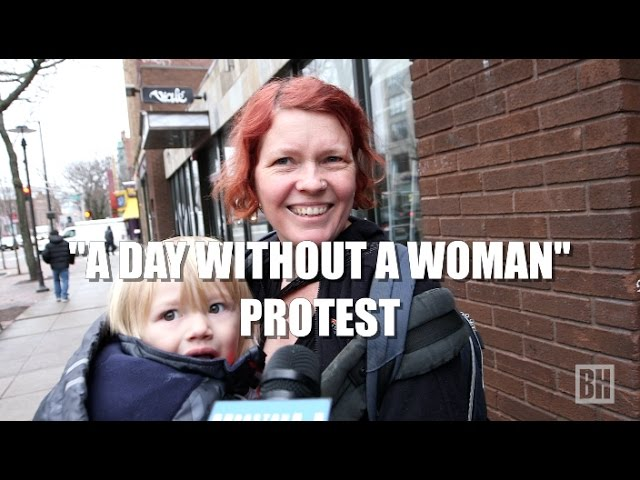"""""""A Day Without a Woman"""" Protest reaction"""