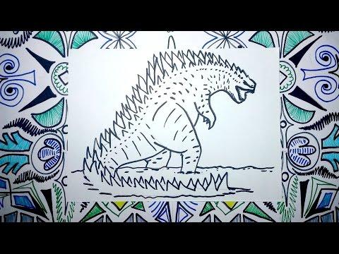 Aprende A Dibujar A Godzilla Pasos Sencillos Youtube