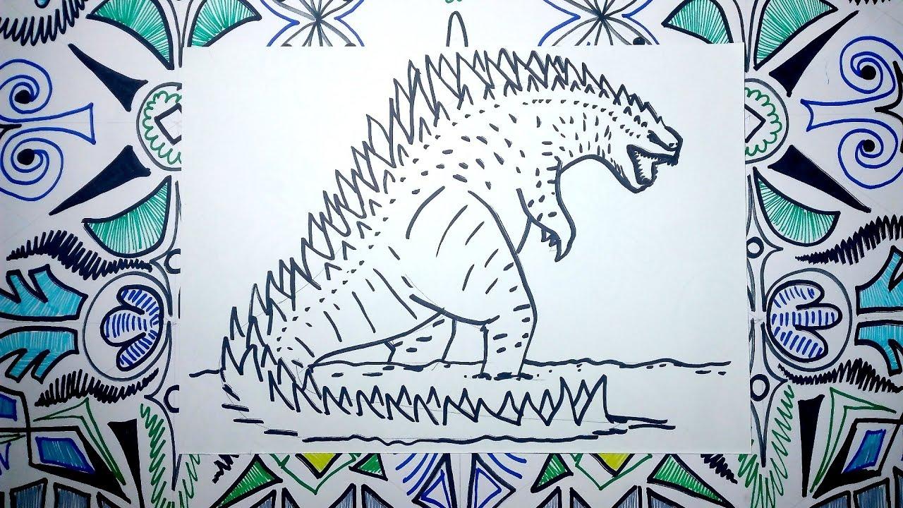 Aprende a dibujar a godzilla pasos sencillos youtube - Pasos para pintar ...