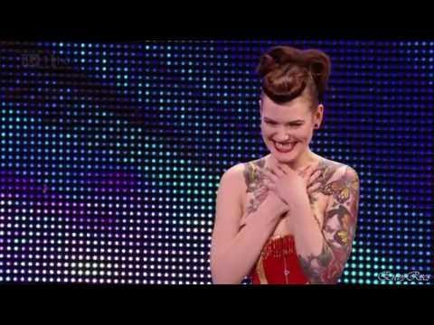 Beatrix Von Bourbon - Burlesque dancer @ Britain's Got Talent 2012 Auditions