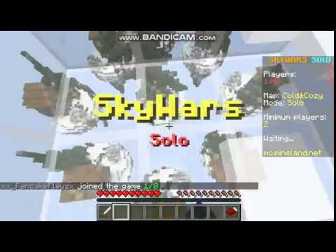 Minecraft server mineland/Skywars - YouTube