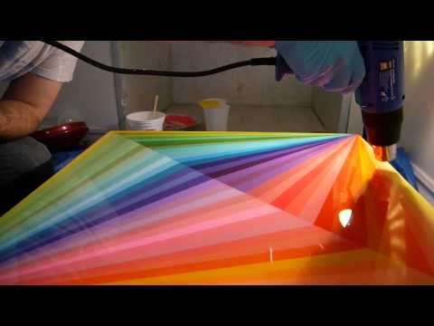 How to use ART RESIN on a painting