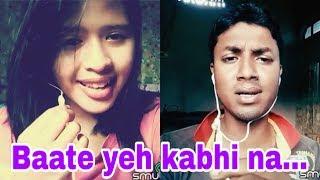 Baatein Ye Kabhi Na(duet smule) - Khamoshiyan. My karaoke 119.