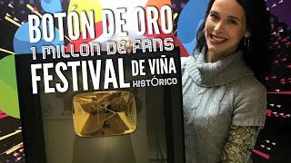 BOTÓN DE ORO FESTIVAL DE VIÑA HISTÓRICO: 1 MILLÓN DE FANS EN YOUTUBE ¡BIENVENIDOS! #CHILE #VIÑA