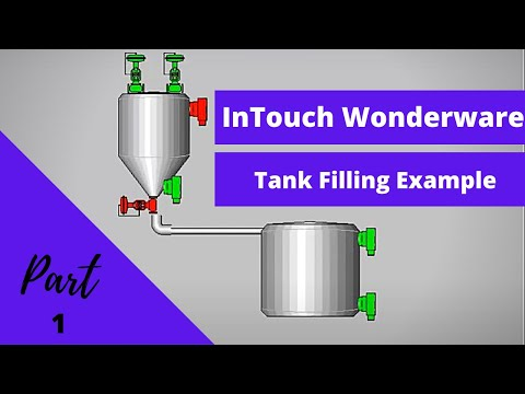 InTouch SCADA : Tank Filling Example 1 tutorial for Beginner