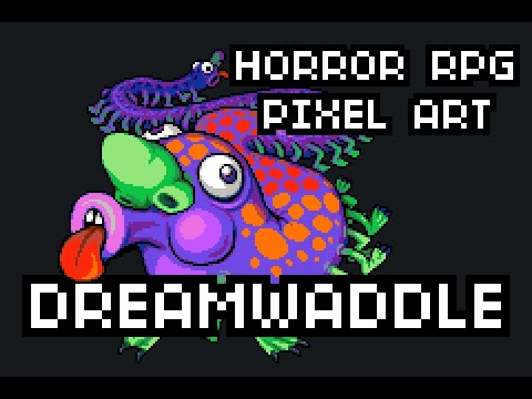 Dreamwaddle, the nightmare centipede: Pixel Art
