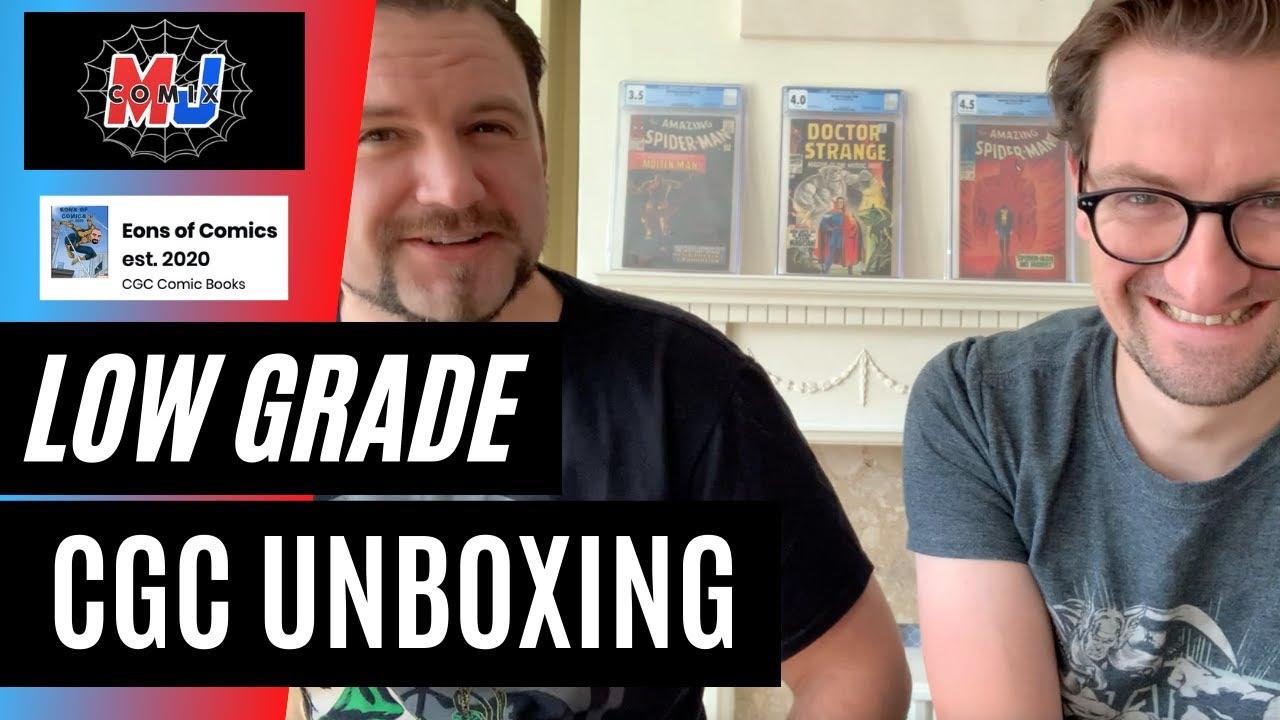 Mikey's Eons of Comics Low Grade CGC Unboxing