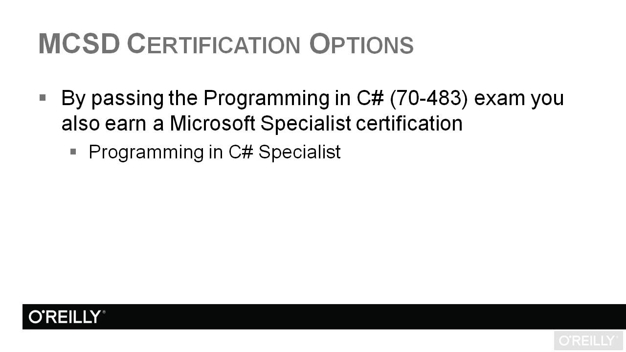 Programming in microsoft c exam 70 483 tutorial mcsd programming in microsoft c exam 70 483 tutorial mcsd certification options xflitez Gallery
