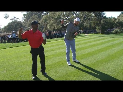 Justin Timberlake and Alfonso Ribeiro's dance off at AT&T Pebble Beach