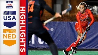 USA v Netherlands | Week 5 | Women's FIH Pro League Highlights
