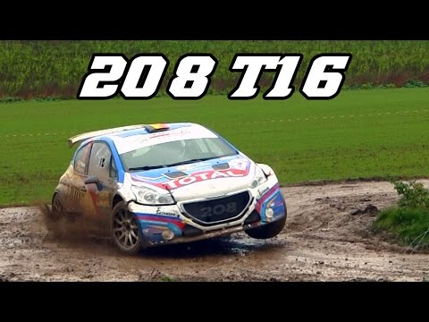 Peugeot 208 T16 R5 - in Belgian rallies (Jumps, drifts & sound)