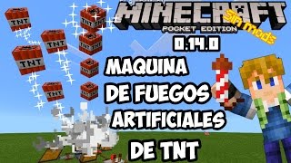 Fuegos artificiales Minecraft pe 0.14.0 Maquina de redstone Pocket edition!