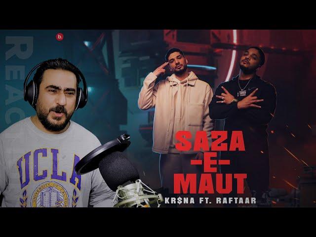 KR$NA Ft. RAFTAAR - Saza-E-Maut Reaction | Official Music Video | (Indian Drill) | IAmFawad