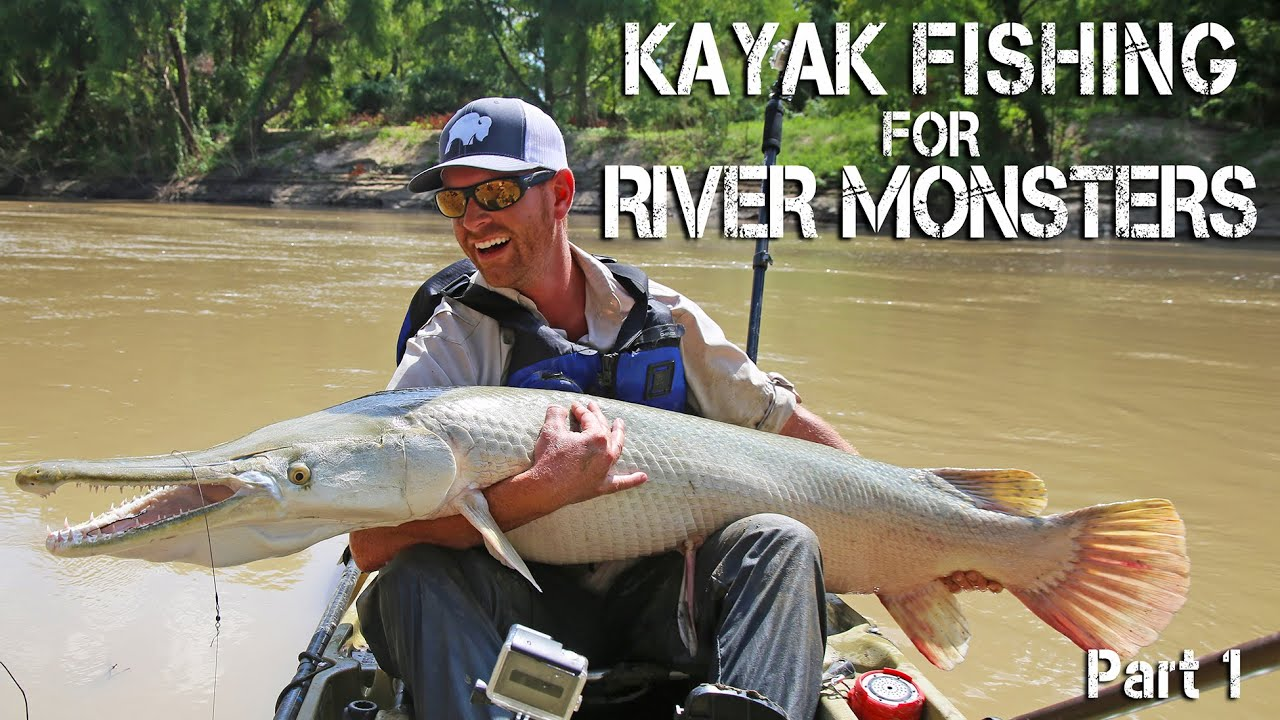 Kayak fishing monster alligator gar in texas prequel for Gar fish texas
