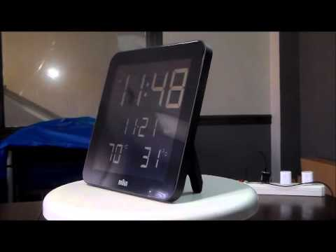 Braun Bnc014 Atomic Radio Controlled Wall Or Desk Alarm