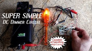 Super Simple Dimmer Control Circuit 3/6/9/12V