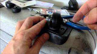 サムソナイト スーツケースのキャスター(タイヤ)の修理・交換を自分でやってみた thumbnail