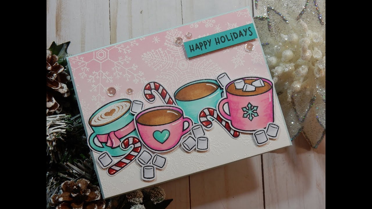 Lawn Fawn THANKS A LATTE Clear Stamps /& Lawn Cuts Die Set Christmas 2018 NEW