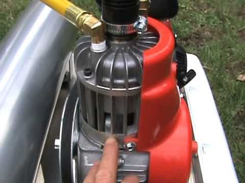 Portable gold sniping dive hookah test run youtube - Hookah dive compressor ...